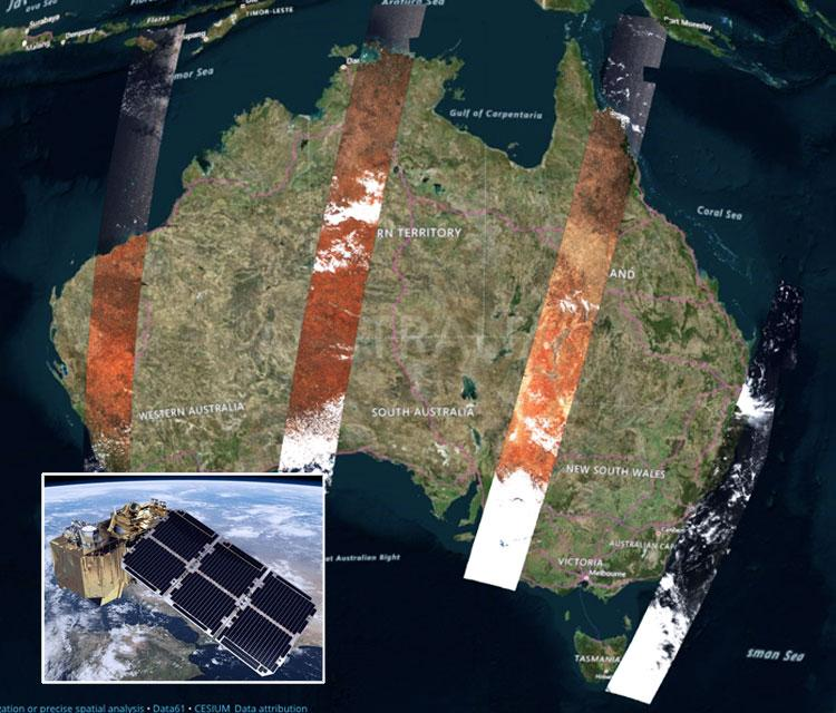 Near real-time satellite images show us the real Australia
